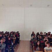 foto del gruppo delle volontarie con la dott.ssa Federica De Santis, il sindaco, ed i musicisti