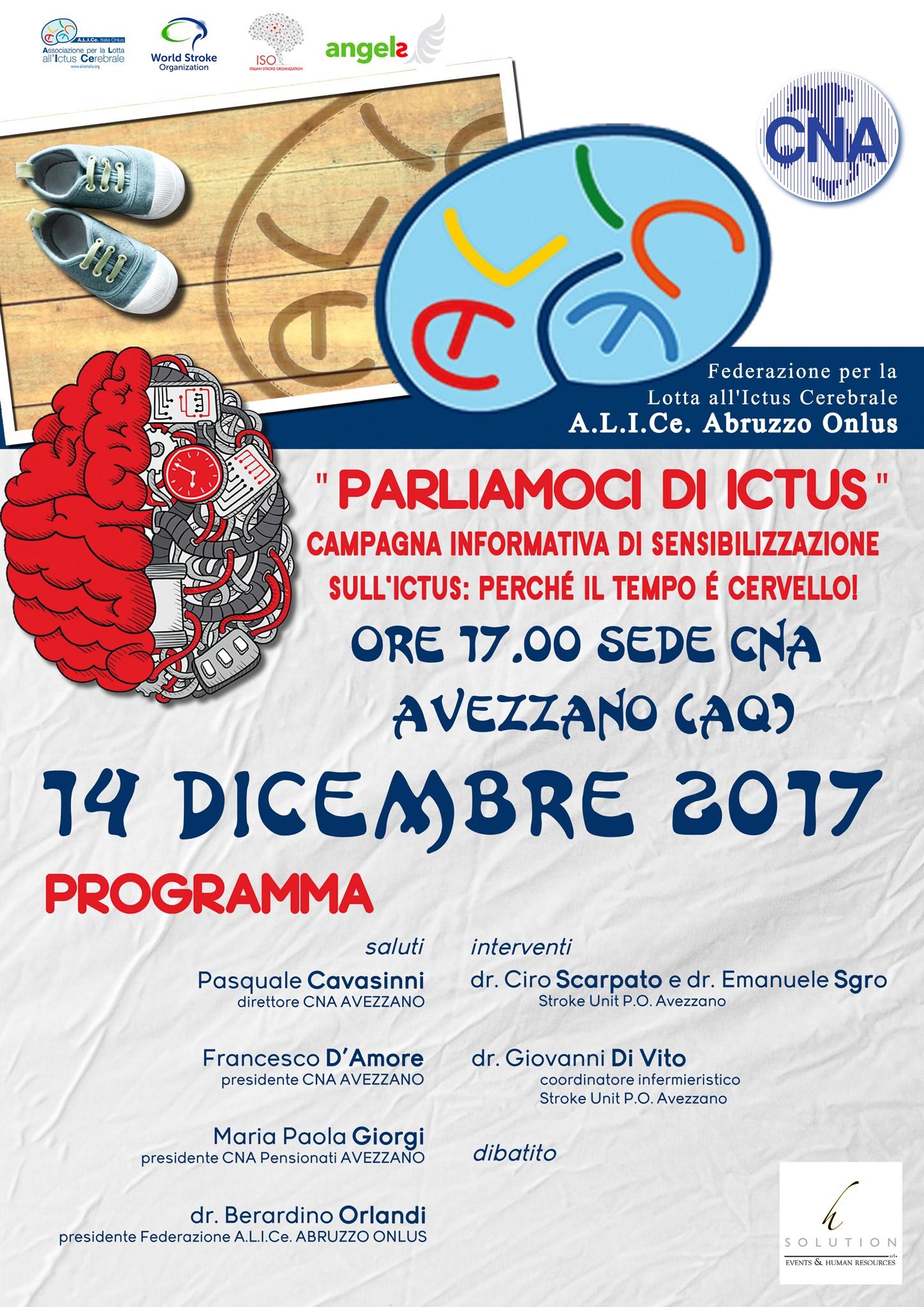 ALICe Federazione Abruzzo: evento ad Avezzano il 17 dicembre